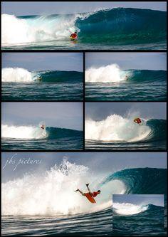 "David Tuarau, ""killah"" showing his talent. Tahiti, Taapuna. May 2014."