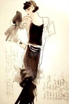 love fashion sketches...#chanel