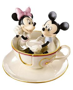 Lenox Collectible Disney Figurine, Mickey Mouse and Friends Mickey Mouse's Teacup Twirl - Collectible Figurines. CUTE!