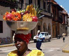 negra palenquera Cartagena Colombia