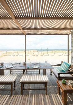 Uruguay porch overlooking sea