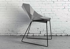 As its name suggests, the Origami Chair translates the folding paper language to a sharp, geometric, metal seating solution. Through a minimal number of