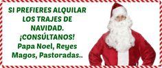 Alquiler y venta de #disfraces y trajes de #Navidad. #Christmas #costumes