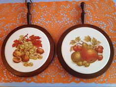 Vintage trivets kitchen wall hanging decor by MyBijouxBoutique, $15.00