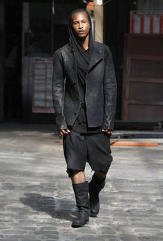 Visions of the Future // Boris Bidjan Saberi Dystopian Fashion, Cyberpunk Fashion, Dark Fashion, Urban Fashion, Unisex Fashion, Mens Fashion, Leather Men, Leather Jacket, Men With Street Style