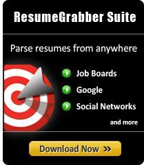 With ResumeGrabber JobSuite you can save 90% of the time you would normally spend in manually copy-pasting resume details. Click here to download your 10-day free-trial version of ResumeGrabber JobSuite today. http://www.egrabber.com/TU422KU97