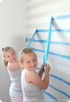 Painting pretty stripes! - The House of Smiths - Home DIY Blog