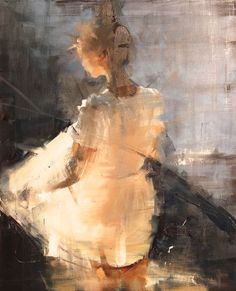 The work of French artist Fanny Nushka Moreaux, with faded hues and gossamer figures, reminds me how very tenuous is our own existence.