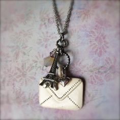 Charm Necklace  Paris Jewelry  Eiffel Tower  by PaganucciDesigns