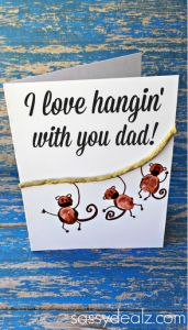 "Fingerprint Monkey Card Idea ""I Love Hangin' With You"""