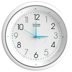 A special blue backlight lights up at night letting you easily see this Night Vision Analog Wall Clock from La Crosse Technology. With high-quality quartz movement, this clock is a wonderful analog alternative.