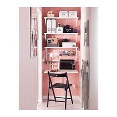 NORBERG Seinään kiinnitettävä klaffipöytä, valkoinen - IKEA