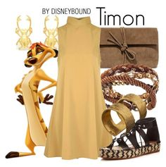 """Timon"" by leslieakay ❤ liked on Polyvore featuring Lulu*s, H&M, Glamorous, ADIN & ROYALE, Loeffler Randall, disney and disneybound"