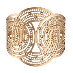 JJ Caprices - Golden Statement Cuff by LK Designs