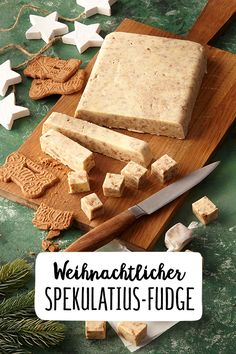Christmas Spekulatius Fudge caramel candy in the Christmas style festive mood with sweet treats. Fudge, Holiday Baking, Christmas Baking, The Joy Of Baking, Caramel Candy, Chocolate Pies, Love Eat, Christmas Sweets, Candy Recipes