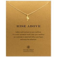 This is made for me- rise above flamingo necklace, gold dipped - Dogeared