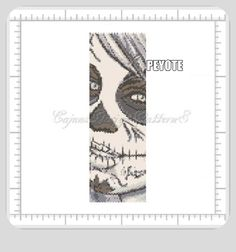 Stitch your very own day of the dead cuff bracelet!  Celebrate Dia de los Muertos!  A bright and bold cuff design based on the Mexican   tradition of sugar skulls,and shrines. Vamos!   Lets get to bea