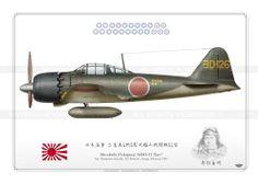 """A6M5 """"ZERO"""" YoD-126 日本海軍"""