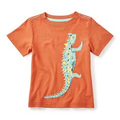 Thorny Devil Graphic Tee   Native to Australia, the thorny devil is a master of self defense. It covers its skin in sharp, thorny spines, puffs itself up to look bigger, grows a fake head on its shoulders and changes color to blend in to its surroundings.