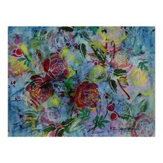 """Chambray Blooms 11""""x14"""" Poster #LiveWaterStudios"""