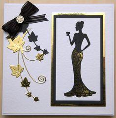 8 Nouveau Tattered Lace Elegant LADY Die Cuts-JEUNE FILLE ART DECO MOTHER
