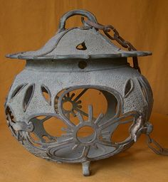 Antique Japanese Taisho Period C. 1925 Bronze Lantern