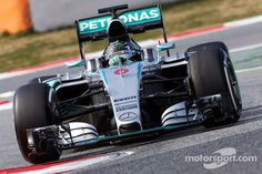 Nico Rosberg, Mercedes AMG F1 W06, finally showed some speed on day two and was fastest at Barcelona so far!