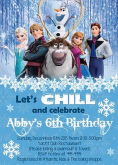 frozen printables free | Details about Frozen Movie Birthday Invitations -Printable - Fast
