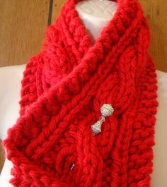 Check out this item in my Etsy shop https://www.etsy.com/listing/204213488/scarf-chunky-knitted-red-cable-scarf