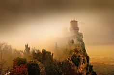 """Guaita Fortress, San Marino, Italy. [""""Other Worlds"""" - fictional landscapes crafted from real-earth photographs. Get inspired! http://matthewbrennan.net - short stories, blog, translation, editing.]"""