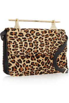 M2Malletier | La Fleur Du Mal leopard-print calf hair shoulder bag | NET-A-PORTER.COM