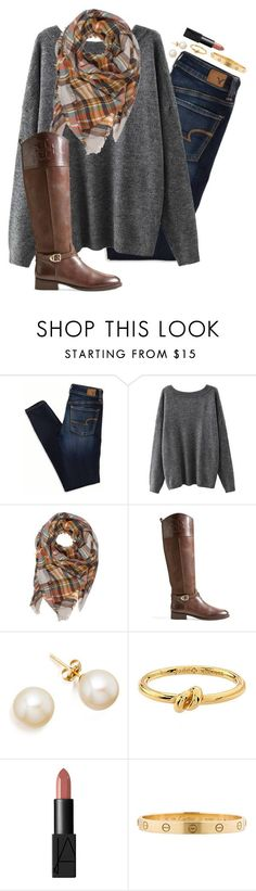 """Shoutout to @your-daily-prep!!! So happy to be apart of there group"" by anna-watson00 ❤ liked on Polyvore featuring American Eagle Outfitters, Tory Burch, Kate Spade, NARS Cosmetics and Cartier #womenclotheswinter"