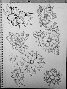 japanese flower line drawing - Google Search