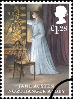 Jane Austen stamps 2013 ~ Northanger Abbey