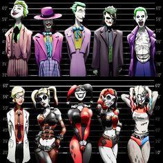 Joker und Harley Quinn Line-Ups. 2 11 x 17 Drucke von Epicwee