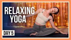 15 min Bedtime Yoga – Day #5 (RELAXING YOGA STRETCHES BEFORE BED) Yoga Day, Yin Yoga, Yoga Meditation, Free Yoga Videos, Bedtime Yoga, Yoga Youtube, Relaxing Yoga, Senior Fitness, Vinyasa Yoga