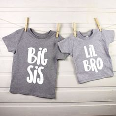 Everyone loves twinning right? This Big Sis & Lil Bro set lets you do it but in a cool way!  Your two children will look super cool and super cute in our new Big Sis and Lil Bro t shirts or babygrows. Ideal for twinning and for people having a new little brother entering the family. Its an ideal gift as it gives something for the big sister as well as the little one to make them come together and match!  Made from 100% cotton, ideal for the sensitive skin of little people. The t shirts and…