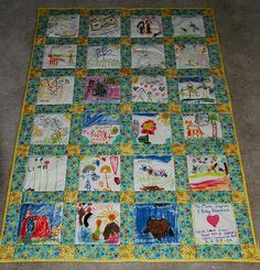 Drawing quilt, I want to try and do this with my classes this year