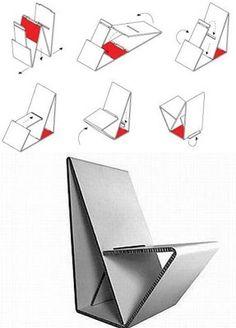 EL MUNDO DEL RECICLAJE: Silla de cartón