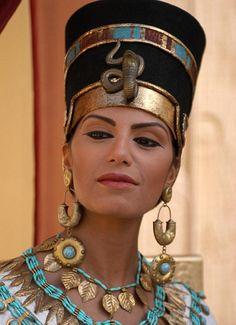 Beautiful... Egyptian beauty: Nefertiti, as portrayed in the Channel 4 programme Nefertiti and the Lost Dynasty