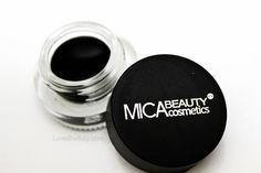 Mica Beauty Cosmetics black gel eyeliner. Apply with a liner brush. From the February 2013 Ipsy glam bag.