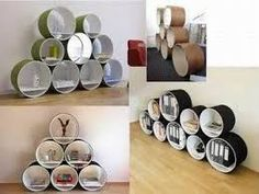 Resultado de imagen para decoracion con reciclaje carton