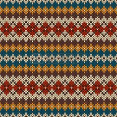 Knitted seamless pattern in fair isle style – Stock Vector © Atelier_Agonda # 5638 … - knitting Fair Isle Knitting Patterns, Fair Isle Pattern, Knitting Blogs, Knitting Charts, Easy Knitting, Knitting Designs, Knitting Stitches, Sock Knitting, Knitting Tutorials