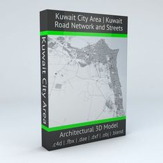 Kuwait City Area Road Network and Streets | 3D model