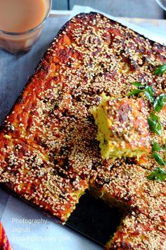 Jagruti's Cooking Odyssey: Handvo-Ondhvo-Tapelu - Spicy Rice and Lentils Cake #Gujarati #snacks #kemcho