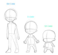 Anime Chibi Body Outline