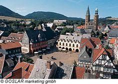 Blick von oben auf Goslar