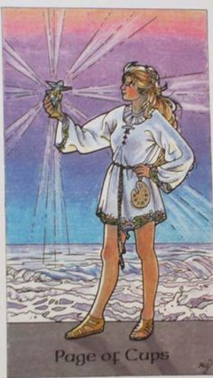 Page of cups- Robin Wood deck.