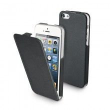 Forro iPhone 5 Muvit - iFlip Negra con Protector Pantalla  Bs.F. 134,48