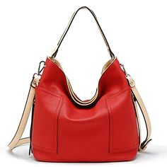 Tosca Stitch Side Pocket Hobo Handbag Red *** Read more reviews of the product by visiting the link on the image.